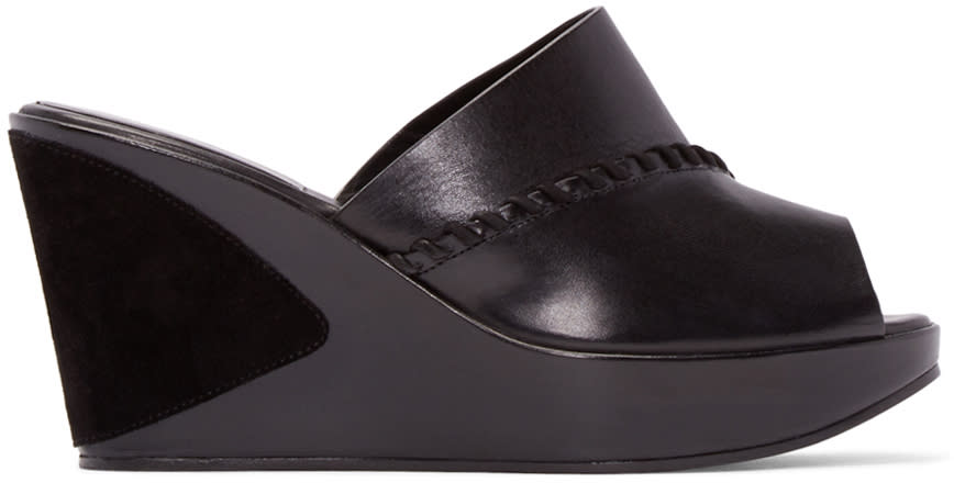 Carritz Black Leather Ursa Mules