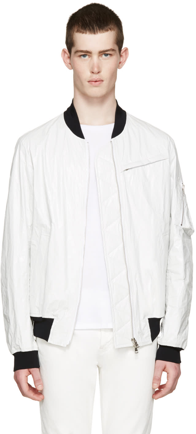 Diet Butcher Slim Skin White Tyvek Flight Jacket