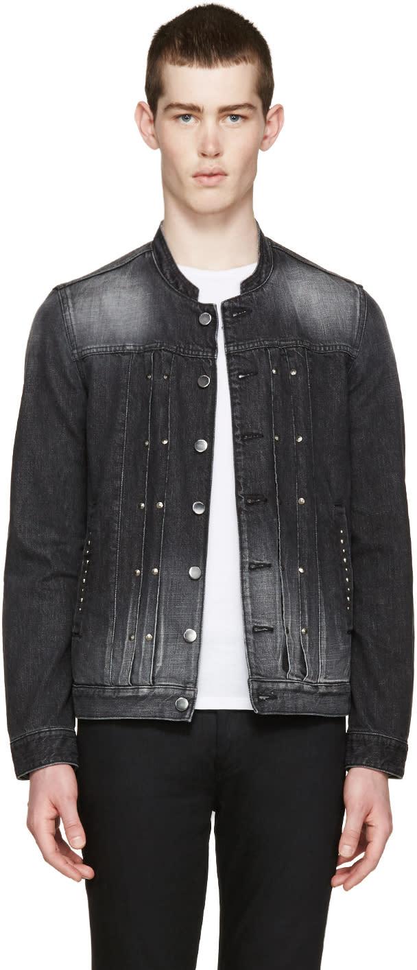 Diet Butcher Slim Skin Black Denim Studded Jacket