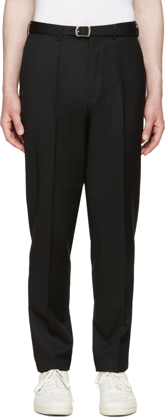 Johnlawrencesullivan Black High-rise Trousers