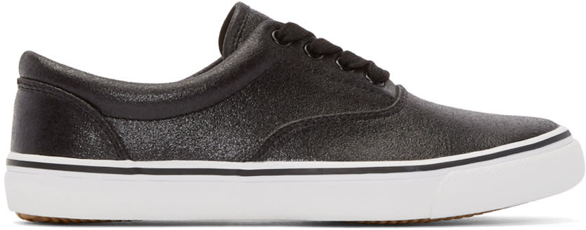Johnlawrencesullivan Black Canvas Sneakers