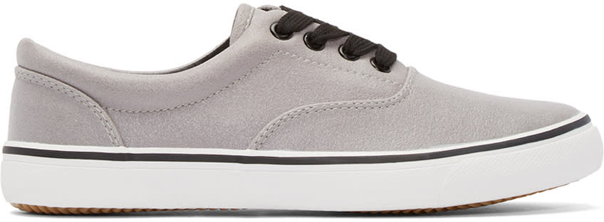 Johnlawrencesullivan Grey Canvas Sneakers