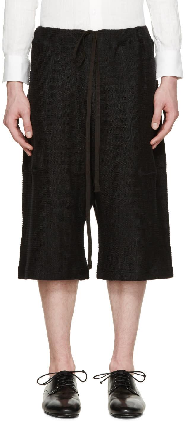 Nude:mm Black Knit Sarouel Shorts