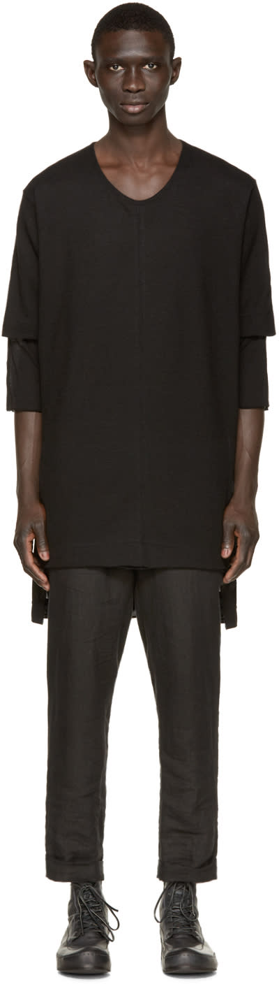 Nude:mm Black Layered T-shirt