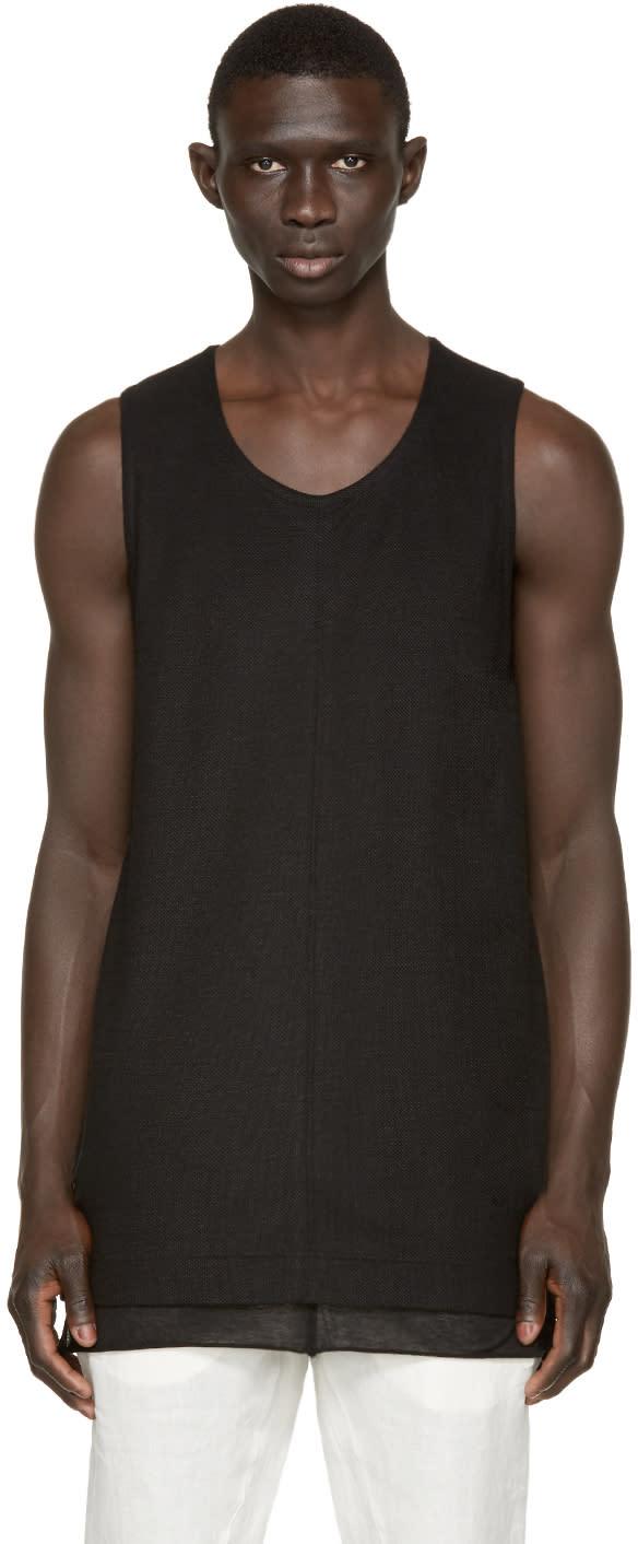 Nude:mm Black Open Knit Tank Top