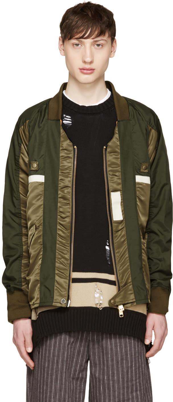 Blackmeans Green Nylon Kimono Jacket