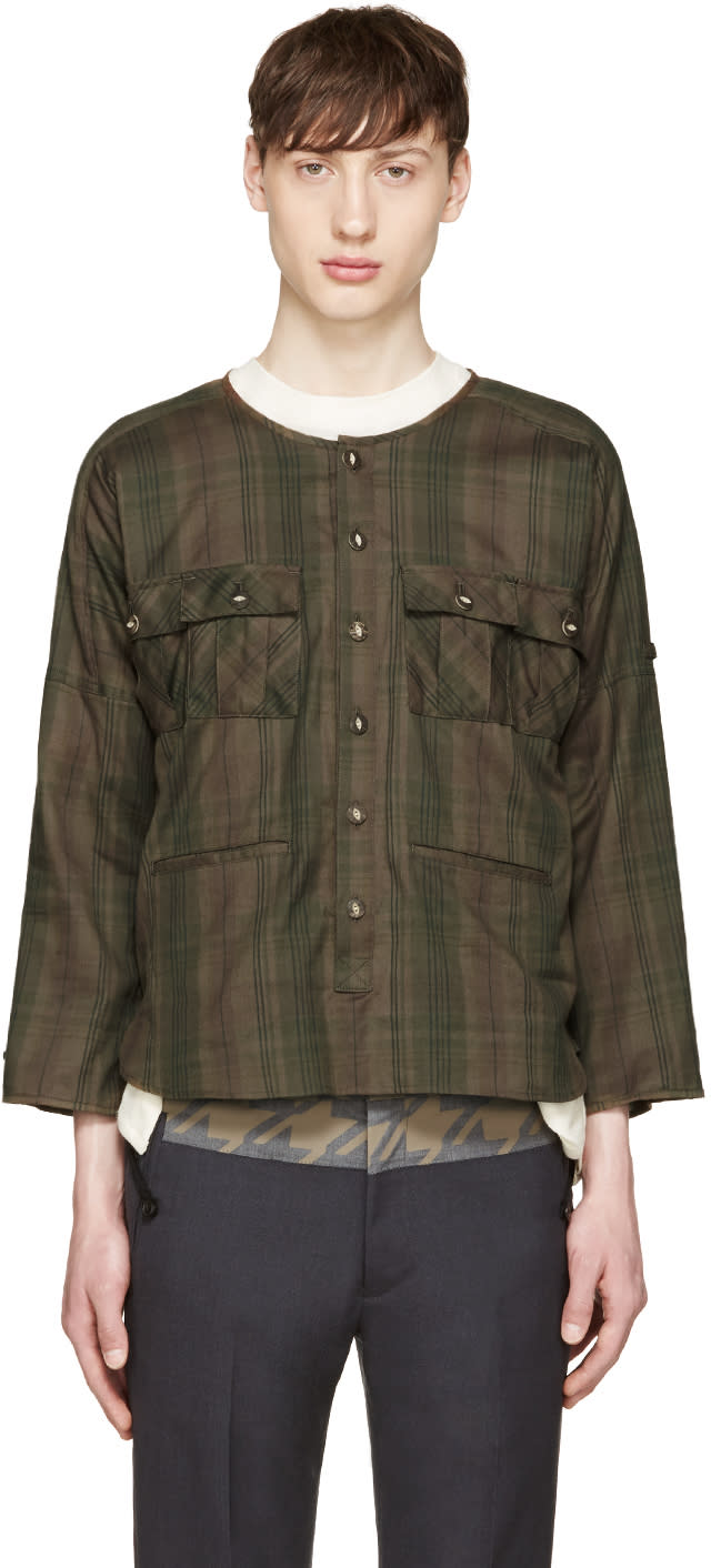 Blackmeans Green Check Shirt