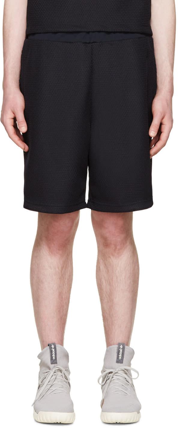 Undecorated Man Navy Mesh Bubble Shorts