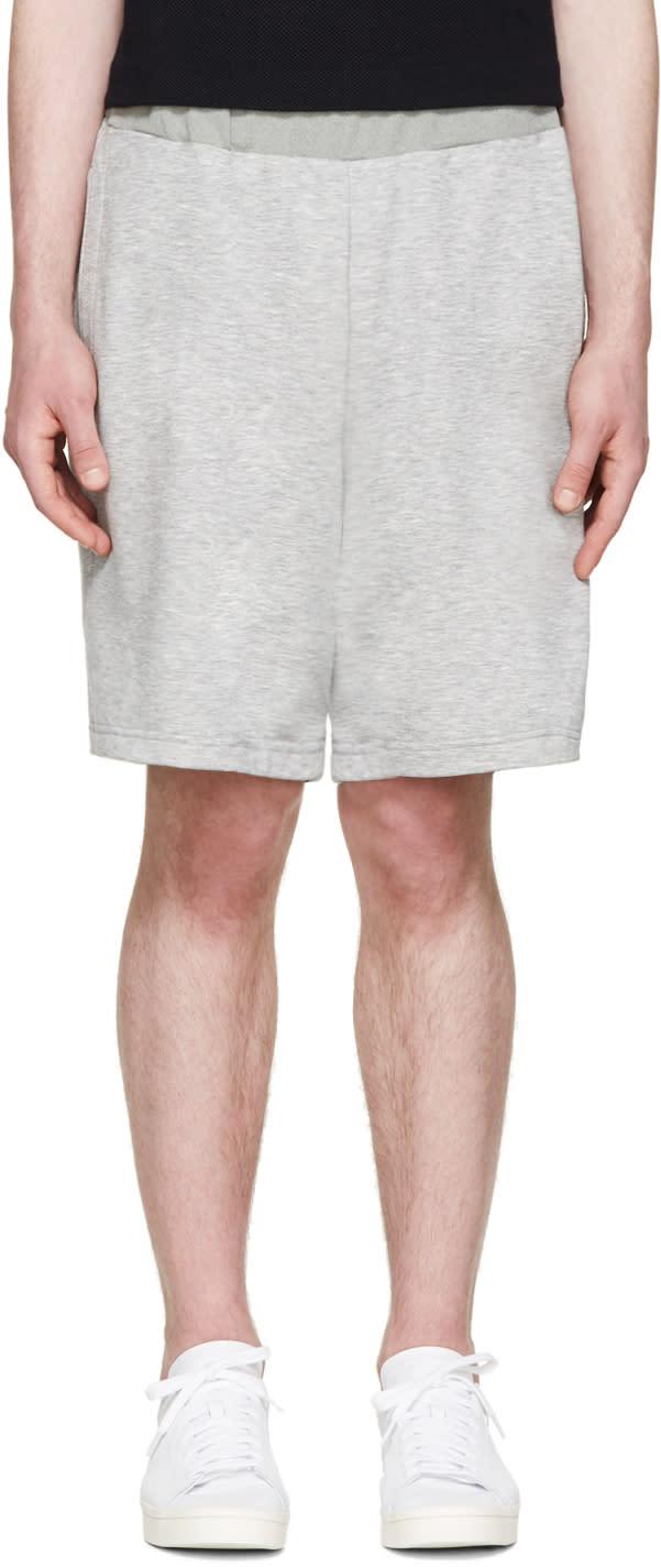 Undecorated Man Grey Layered Lounge Shorts