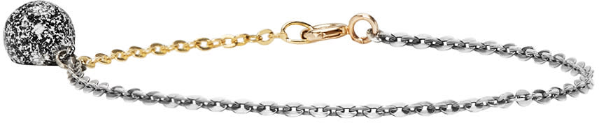 Pearls Before Swine Silver and Gold Plated Pearl Bracelet