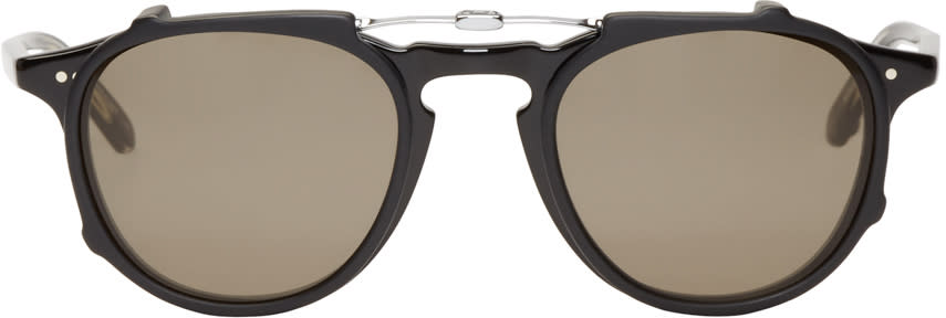 Garrett Leight Black Clip-on Hampton Optical Glasses