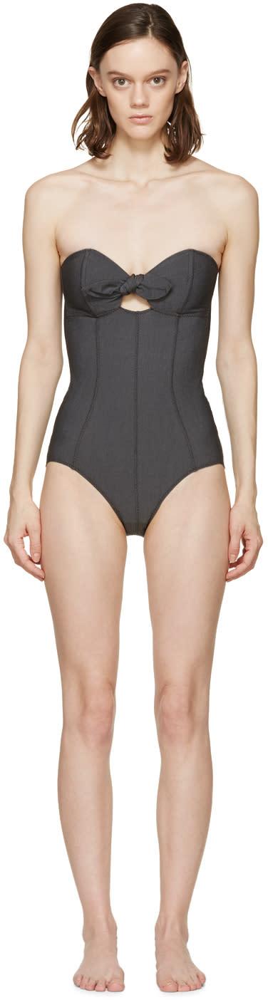 Lisa Marie Fernandez Black Poppy One-piece Swimsuit
