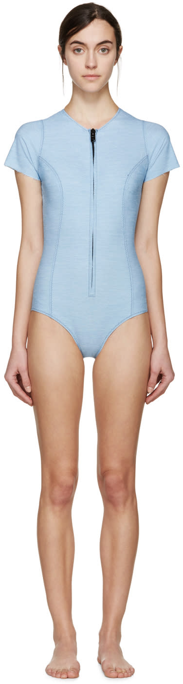 Lisa Marie Fernandez Blue Denim Farrah Swimsuit