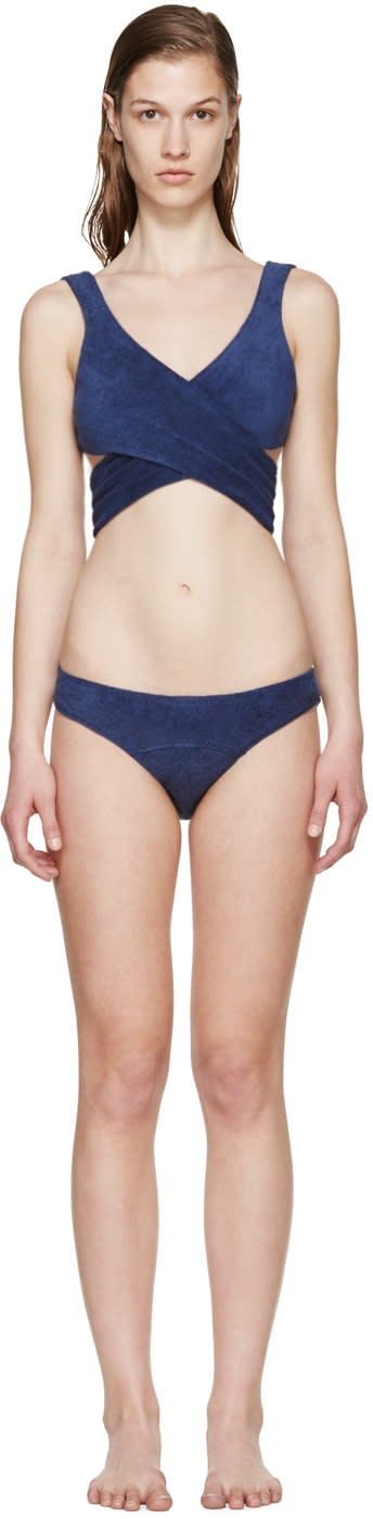 Lisa Marie Fernandez Navy Marie-louise Terry Bikini