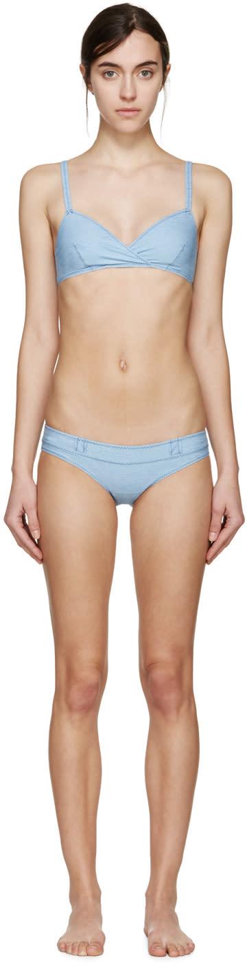 Lisa Marie Fernandez Blue Denim Yasmin Bikini