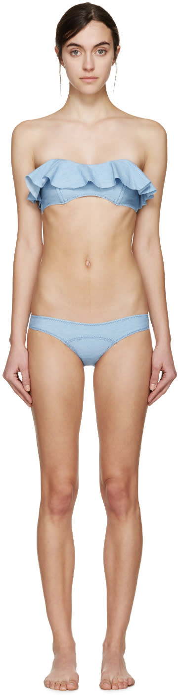 Lisa Marie Fernandez Blue Denim Natalie Bikini