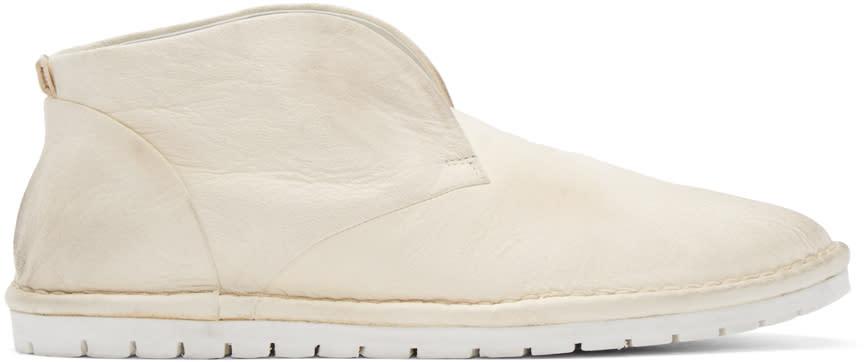 Marsell Gomma Cream Leather Sancrispa Ankle Boots