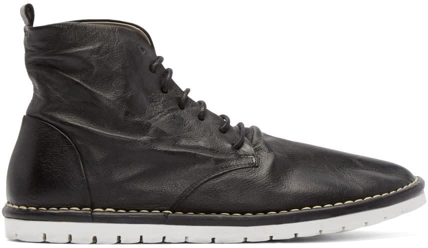 Marsell Gomma Black Leather Sancrispa Ankle Boots