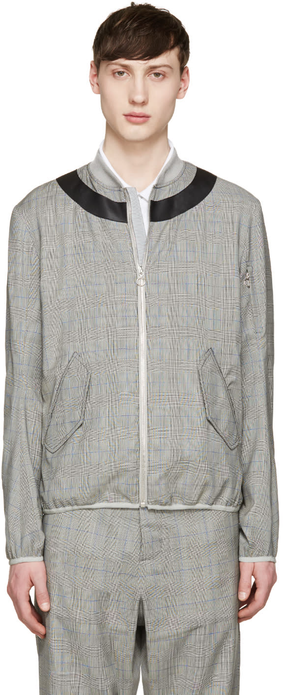 Oamc Grey Glen Plaid Jacket
