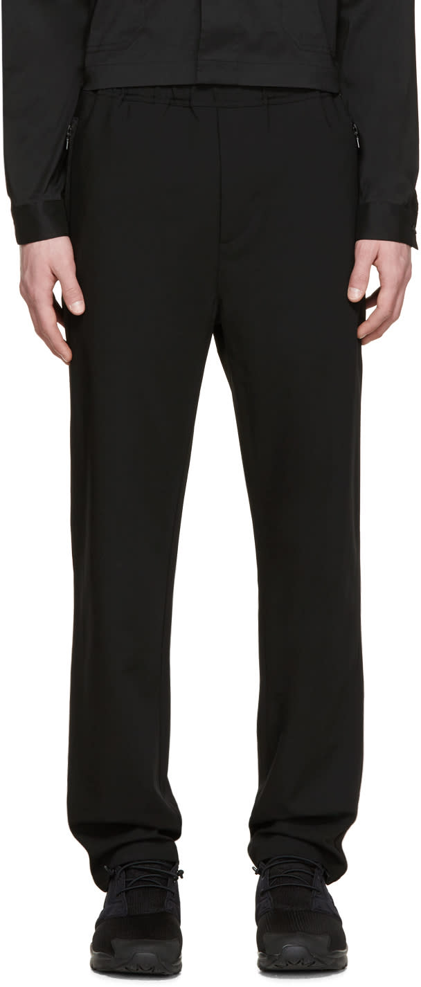 Oamc Black Drawstring Trousers