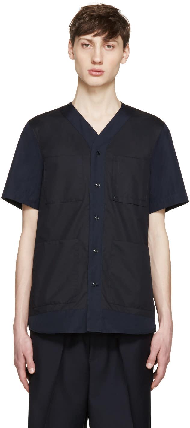 Oamc Navy Poplin Savana Shirt