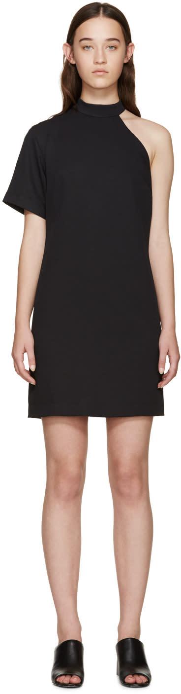 Nomia Black Cut-out Shoulder Dress