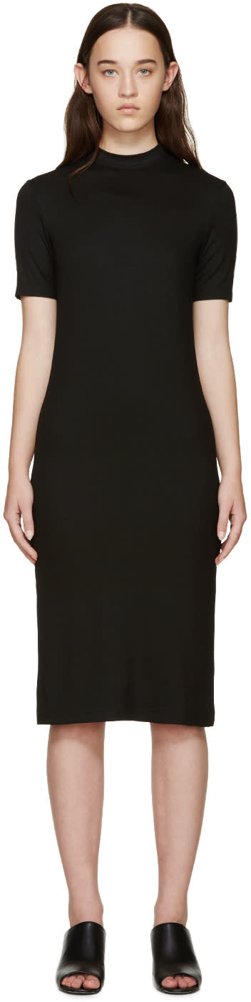 Nomia Black Ribbed Jersey Dress