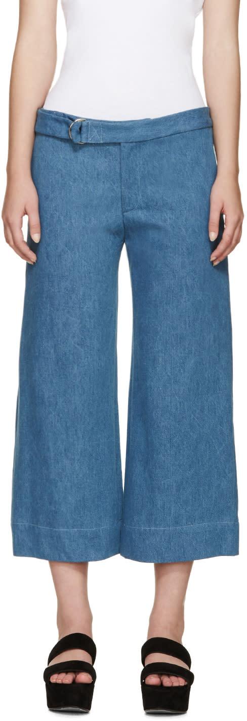 Image of Nomia Blue Wide-leg Denim Trousers