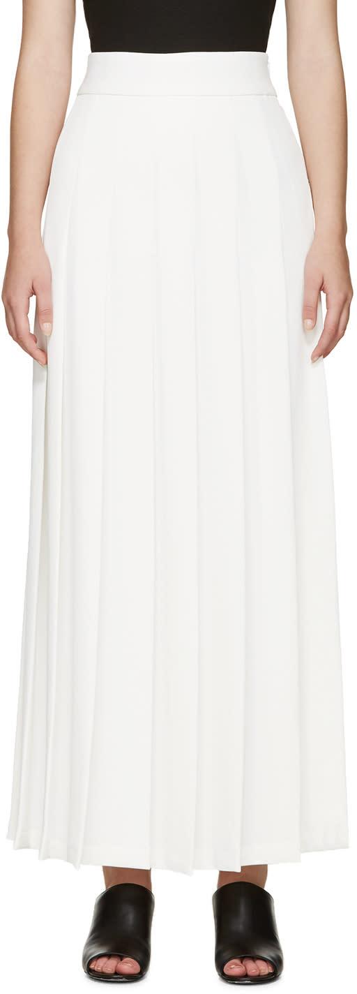 Nomia Ivory Pleated Maxi Skirt