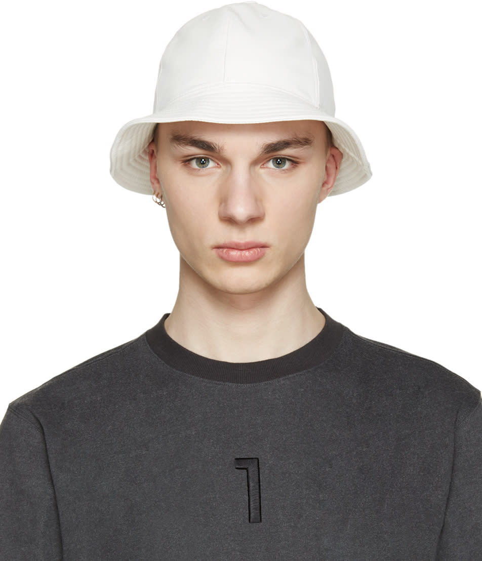 D By D White Faux-leather Bucket Hat
