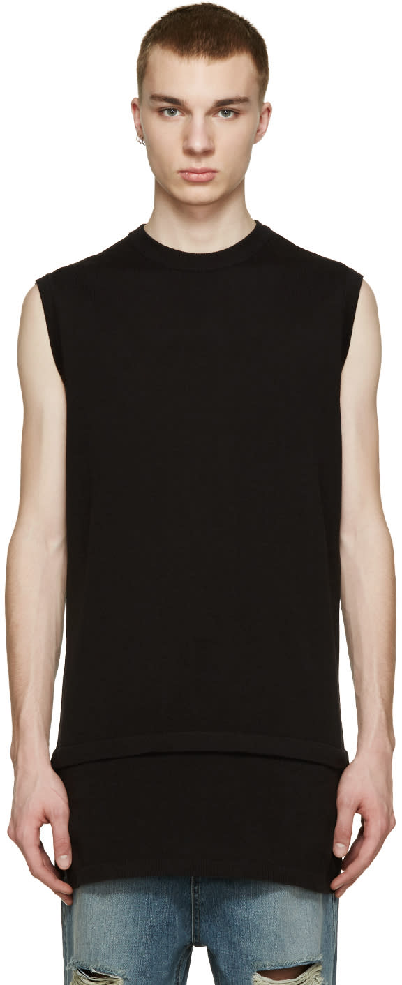 D By D Black Layered Knit T-shirt