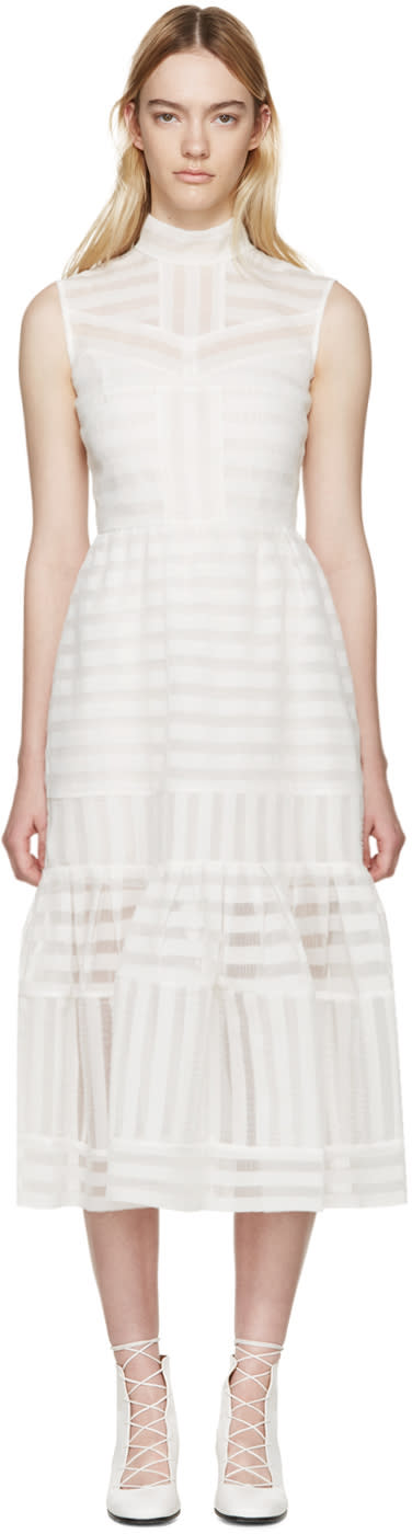 Erdem White Organza Abrielle Dress
