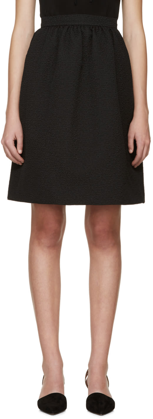 Erdem Black Jacquard Kitty Skirt