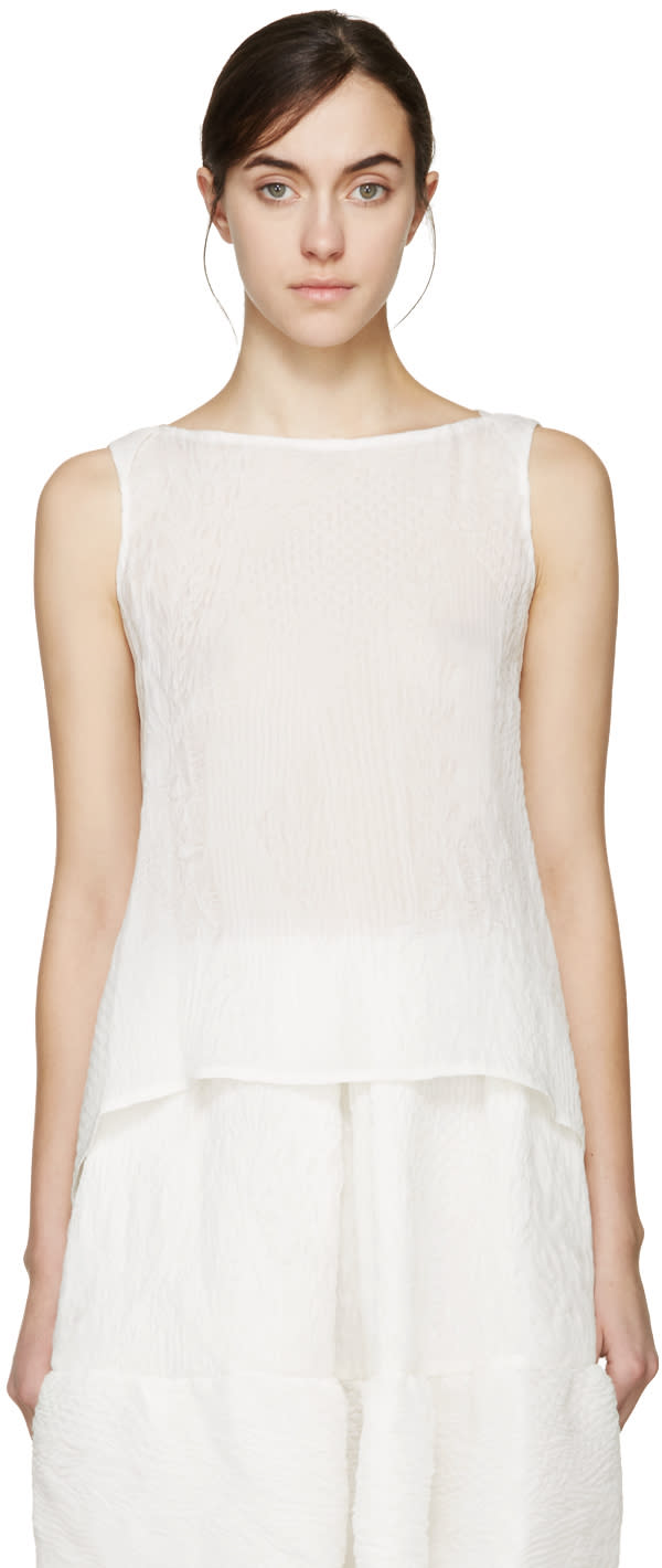 Erdem White Cloque Joelle Top