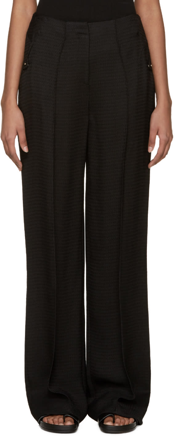 Esteban Cortazar Black Crepe Sable Trousers
