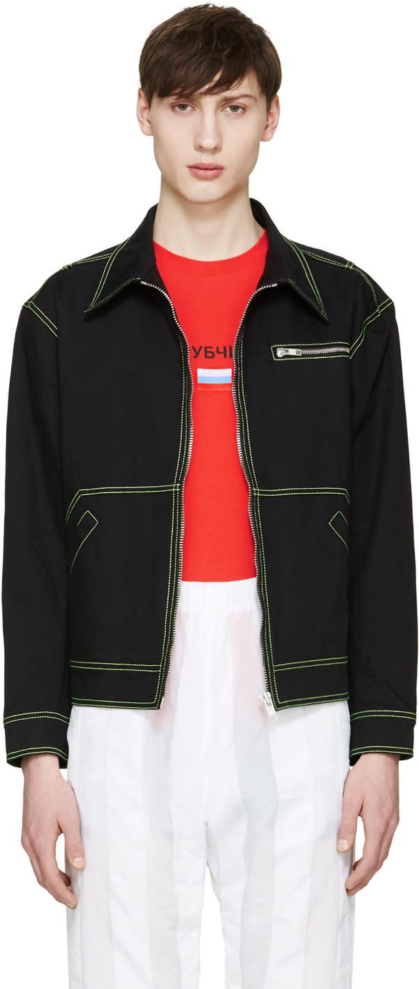 Gosha Rubchinskiy Black Contrast Denim Jacket