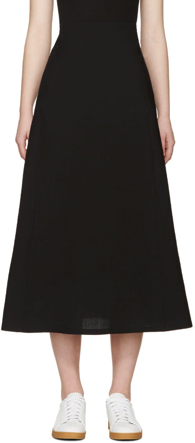 Lemaire Black Wool Skirt