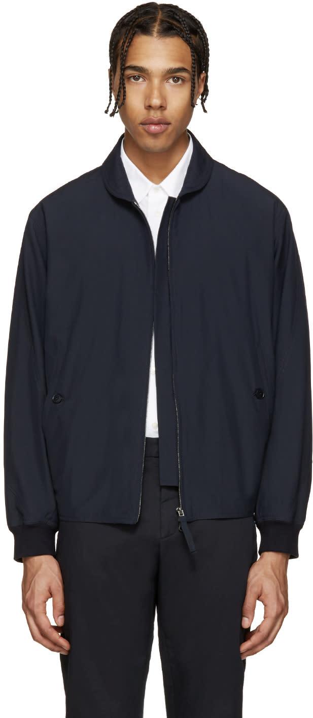 Lemaire Navy Zip-up Jacket