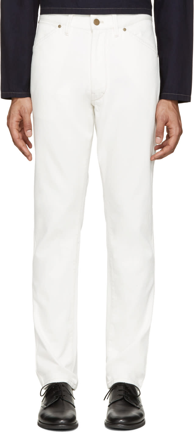 Lemaire Off-white Straight Leg Jeans