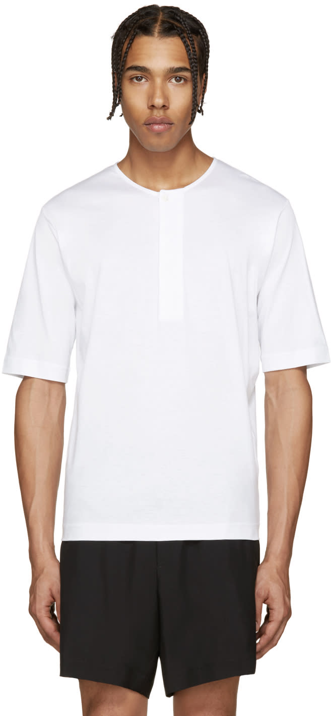 Lemaire White Henley T-shirt