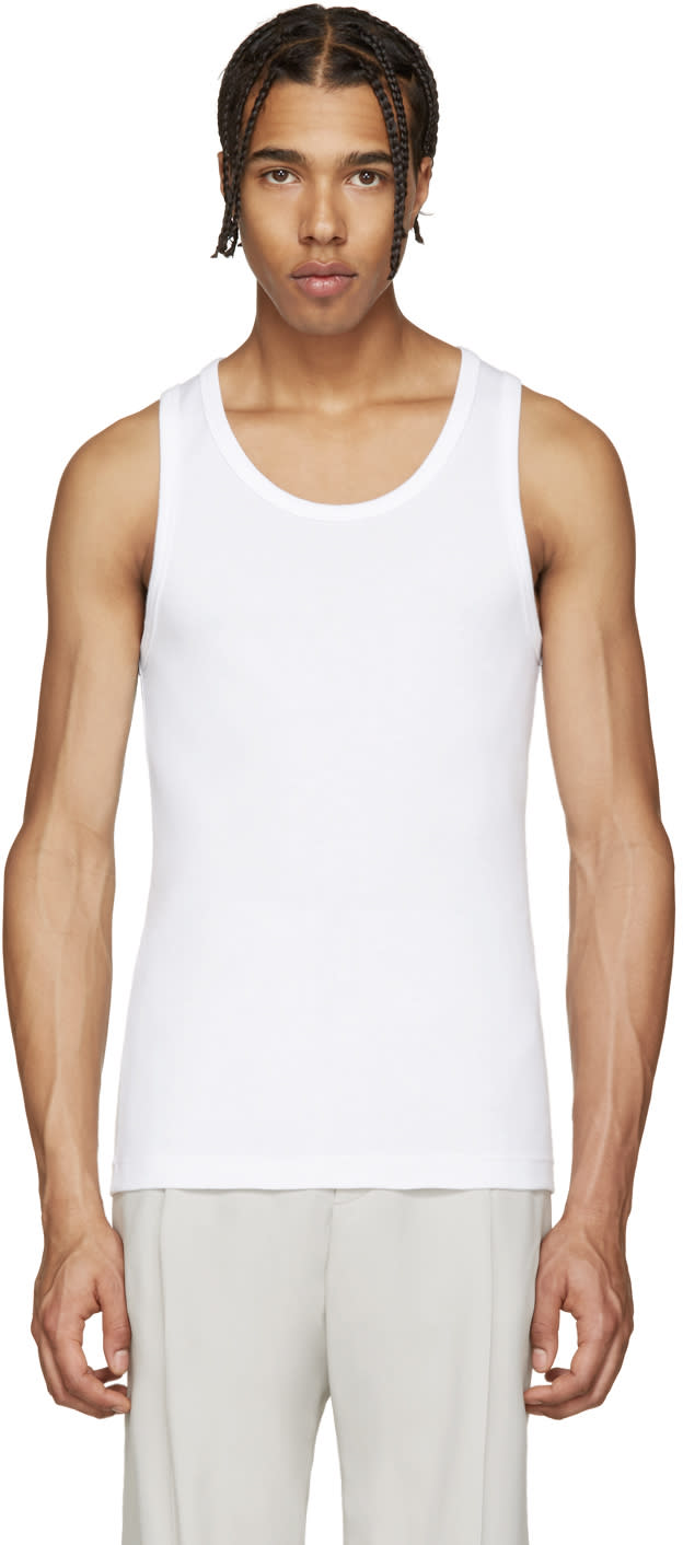 Lemaire White Cotton Tank Top