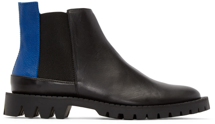 études Studio Black Canal Chelsea Boots