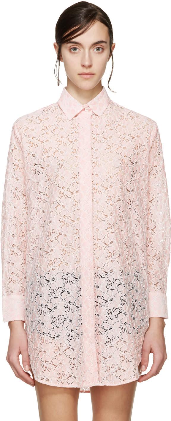 Raphaëlla Riboud Pink Lace Liliane Pyjama Shirt