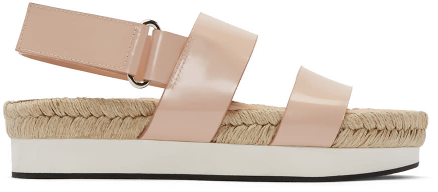 Flamingos Pink Mondrian Sandals