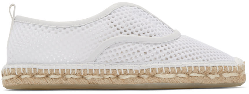 Flamingos White Mesh Jet Set Espadrilles