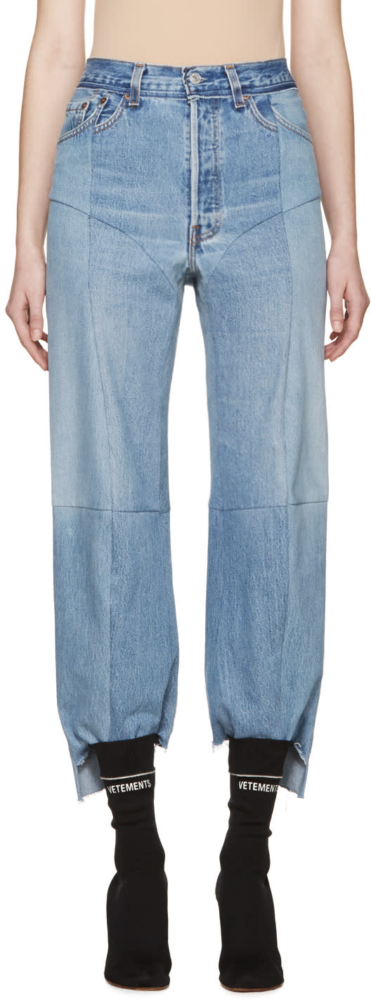Vetements Blue Reconstructed 1417 Jeans