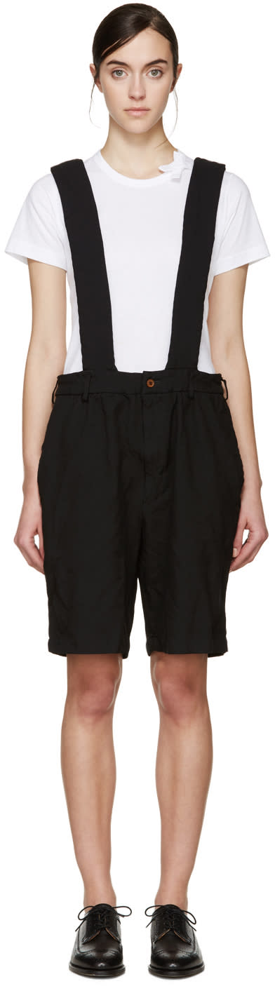 Comme Des Garcons Girl Black Suspender Shorts