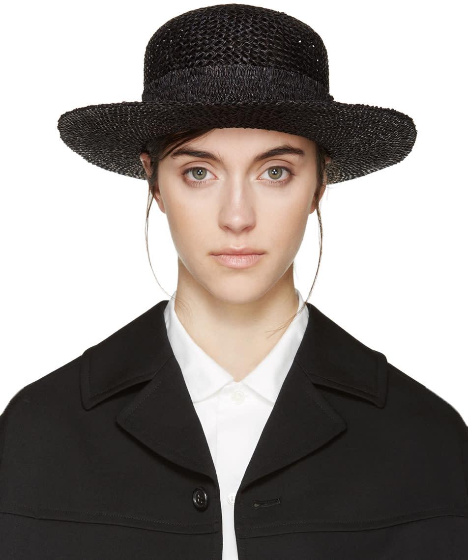 Comme Des Garçons Comme Des Garçons Black Straw Walk Time Scha Edition Beach Hat