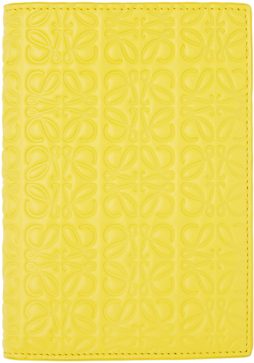 Loewe Yellow Anagram Passport Holder