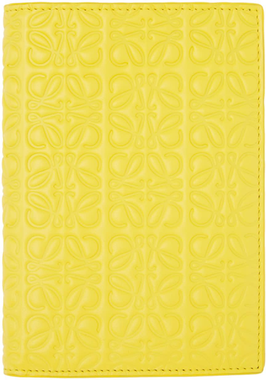 Loewe Yellow Anagram Passport Holder